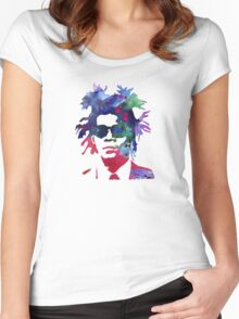 Jean-Michel Basquiat Splatter 2 Women's Fitted Scoop T-Shirt