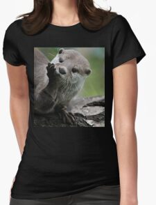 Otter Dreams Womens Fitted T-Shirt