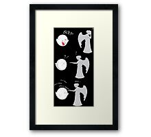 boo vs Weeping angel ! don't blink! Framed Print