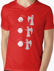 boo vs Weeping angel ! don't blink! Mens V-Neck T-Shirt