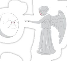 boo vs Weeping angel ! don't blink! Sticker