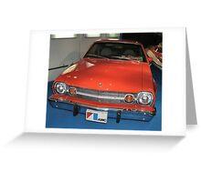 Bond's AMC red car Greeting Card