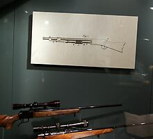 Guns and a drawing of a gun, Los Angeles, Ca., January 2011 by joshsteich