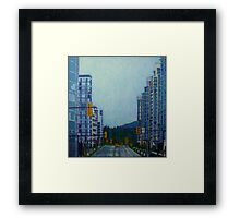 From Vancouver to the mountains Framed Print