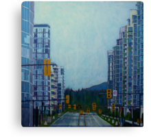 From Vancouver to the mountains Canvas Print