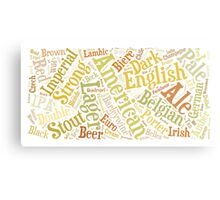 Beer Word Cloud Rectangle Canvas Print
