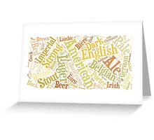 Beer Word Cloud Rectangle Greeting Card