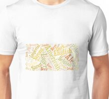 Beer Word Cloud Rectangle Unisex T-Shirt