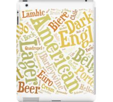 Beer Word Cloud Rectangle iPad Case/Skin