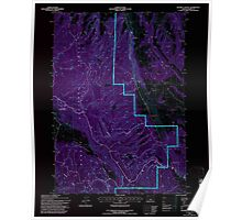USGS Topo Map Oregon Holmes Canyon 280228 1992 24000 Inverted Poster