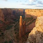 Spider Rock at Sunset by genez