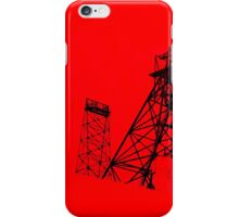 Butte Montana Headframe - Red iPhone Case/Skin