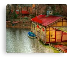 Old Canal House Canvas Print