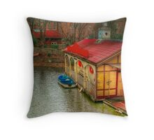 Old Canal House Throw Pillow