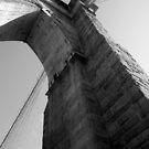 Brooklyn Bridge, West Tower by Richard Butler