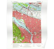 USGS Topo Map Oregon Portland 281132 1961 24000 Poster