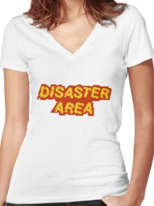 Disaster Area band t-shirt Women's Fitted V-Neck T-Shirt