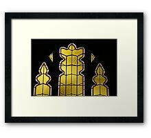 Celestial Chess Pieces Framed Print