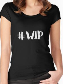 #WIP (white on black) Women's Fitted Scoop T-Shirt