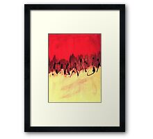 half n half blood Framed Print