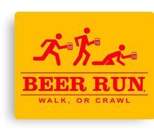 Beer Run Canvas Print