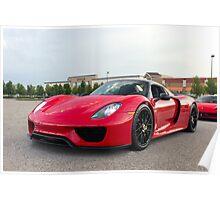 Porsche 918 Spyder front Poster