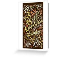 Beer Lovers Word Cloud  Greeting Card