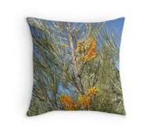 Tall native Grevillea alongside Luritja Rd. Outback N.T. Throw Pillow