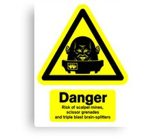 Sontaran Danger! Canvas Print