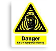 Tardis Danger! Canvas Print
