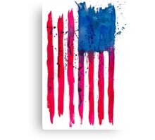 Watercolor Flag of the USA vertical Canvas Print
