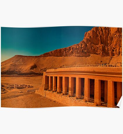 Egypt. Luxor. At the Temple of the Queen Hatshepsut. Poster