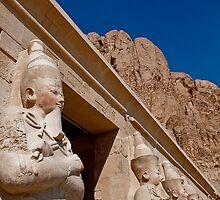Egypt. Deir el-Bahari. Statues of the Queen Hatshepsut. by vadim19
