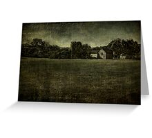 Field in Old Bethpage Village Greeting Card