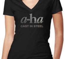 a-ha Women's Fitted V-Neck T-Shirt