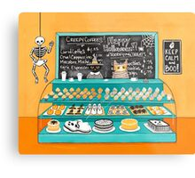 The Halloween Bakery Metal Print