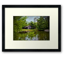 Cabin by the Pond Framed Print