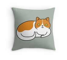 Special Cat... Ginger and White Throw Pillow