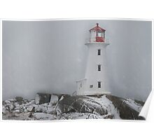 Peggy's point light Snow Storm Poster