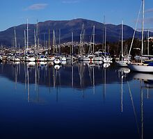 Early morning in Hobart. Tasmania, Australia. by Ralph de Zilva