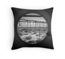 Tunnel Vision To A Desert Future Throw Pillow