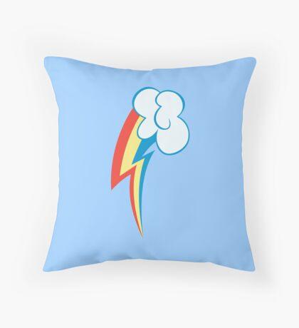 My little Pony - Rainbow Dash Cutie Mark V2 Throw Pillow