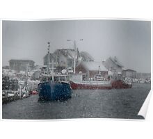 Peggy's Cove in a Snow Storm Poster