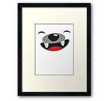 Cute husky smiling puppy face Framed Print
