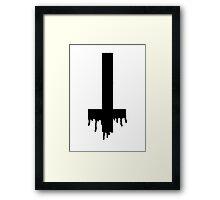 Satanic Cross Framed Print