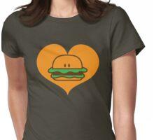 BURGER man love Womens Fitted T-Shirt