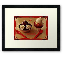 D is for Dessert ~ Framed Print