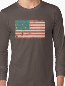 Grungy US flag Long Sleeve T-Shirt