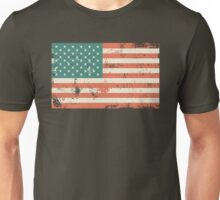 Grungy US flag Unisex T-Shirt