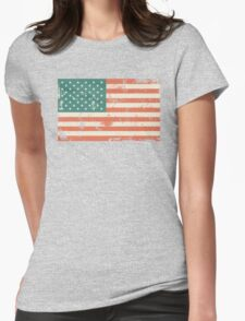 Grungy US flag Womens Fitted T-Shirt